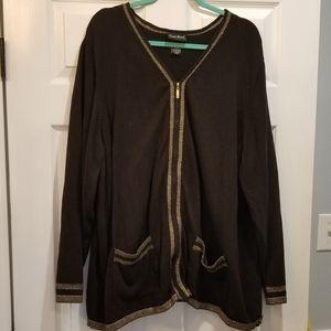 Black Maggie Barnes zip up cardigan